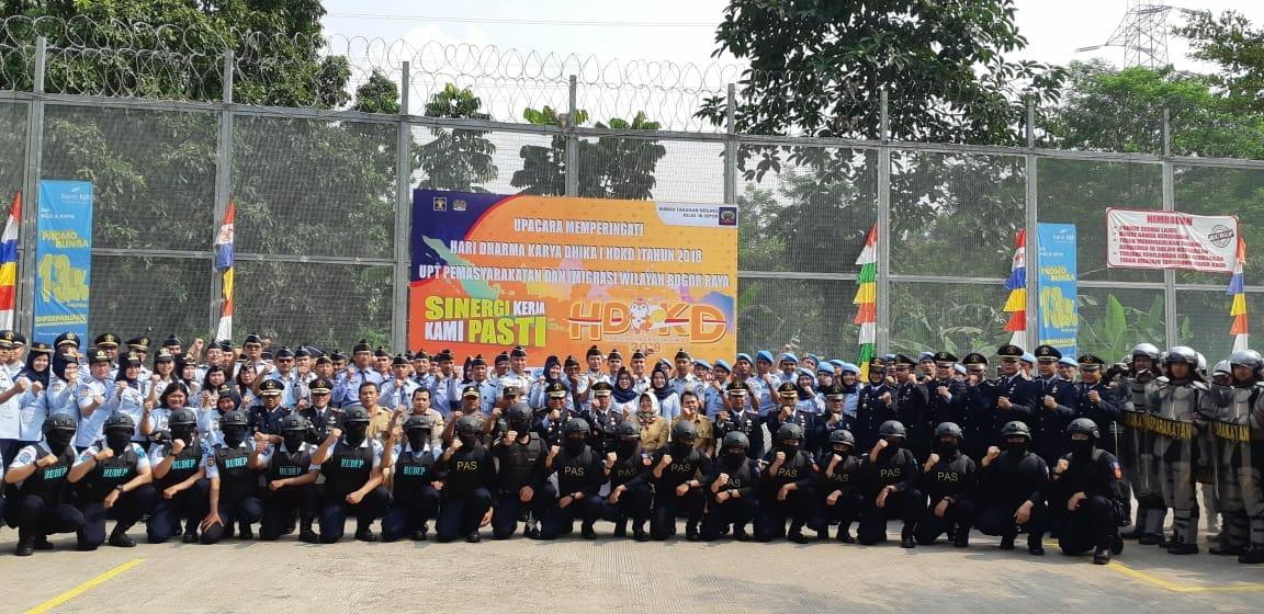 Photo of Rutan Depok Mendapat Kehormatan Sebagai Tuan Rumah Upacara Memperingati Hari Dharma Karya Dika KE-73 Se-Bogor Raya
