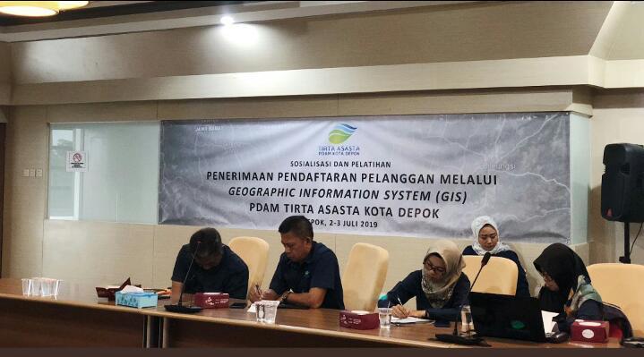 Photo of PDAM Depok Gelar Sosialisasi Dan Pelatihan Penerimaan Pendaftaran Pelanggan Melalui GIS